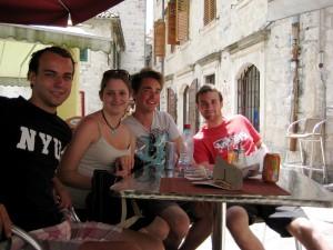 Stephanie with some of her hostel buddies