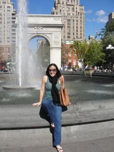 Emily in Washington Square Park