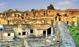 Pompeii ruins in Italy