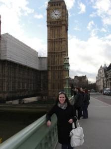 Emily in front of Big Ben