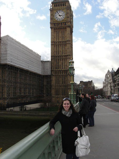 Emily in front of Big Ben