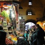 Shoppers at the Istanbul spice market