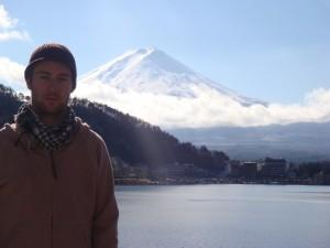 Johnny Ward at Mount Fuji