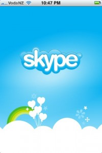 Skype application for iPhone