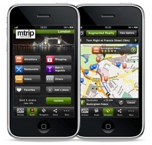 mTrip app: travel guide