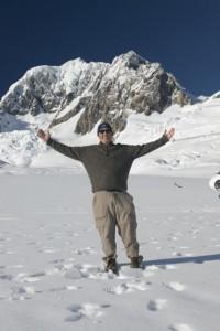 Gary Arndt on top of Franz Joseph Glacier, NZ