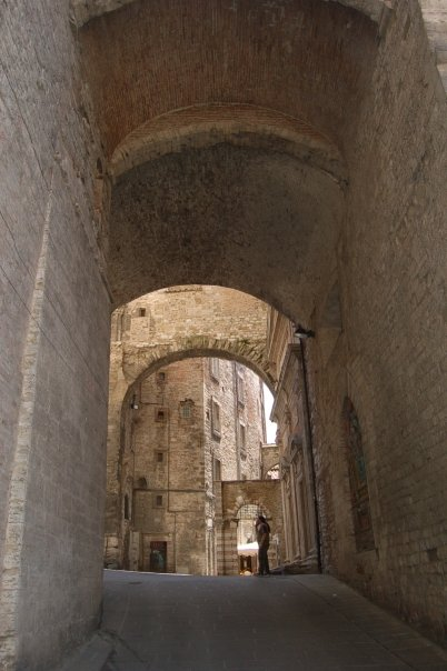 Medieval arches in Perugia