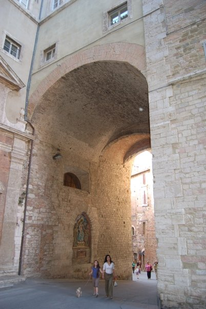 Arch in Perugia, Italy
