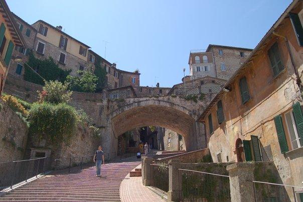 Perugia steps and aqueduct