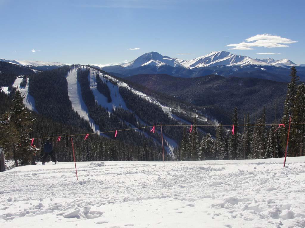 Vista while skiing in Keystone