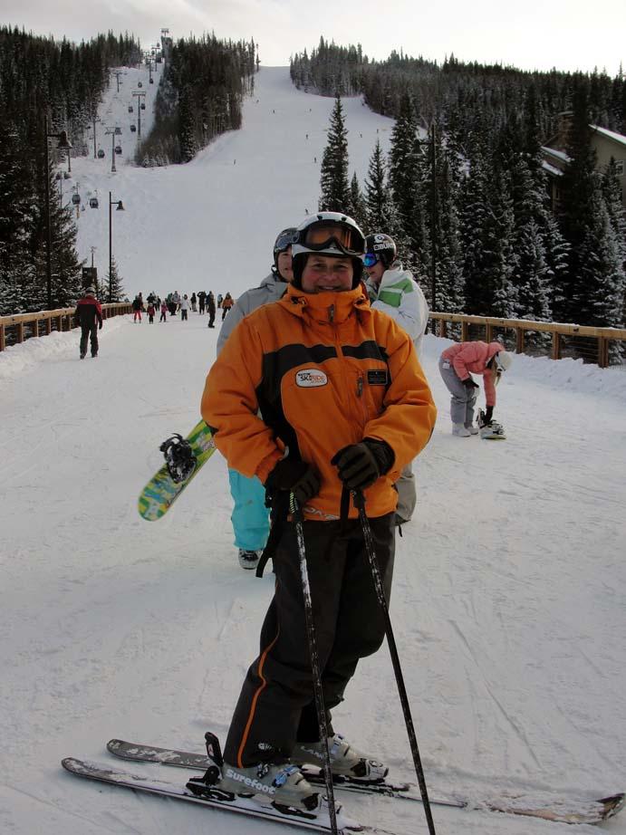 Ski instructor Kim Hesh Olson