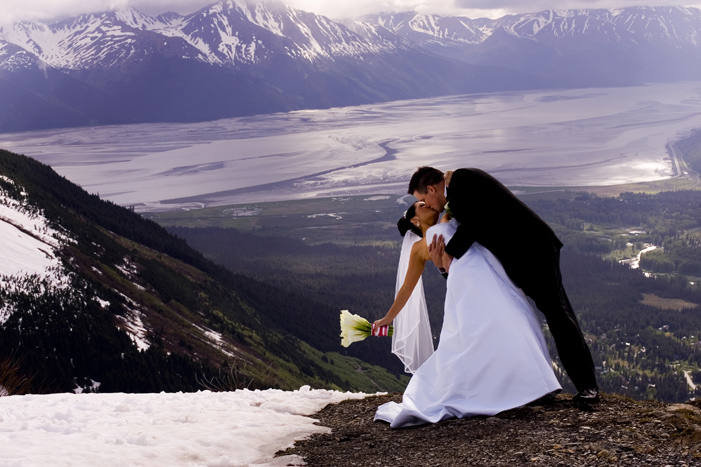 A wedding at the Alyeska Resort in Alaska