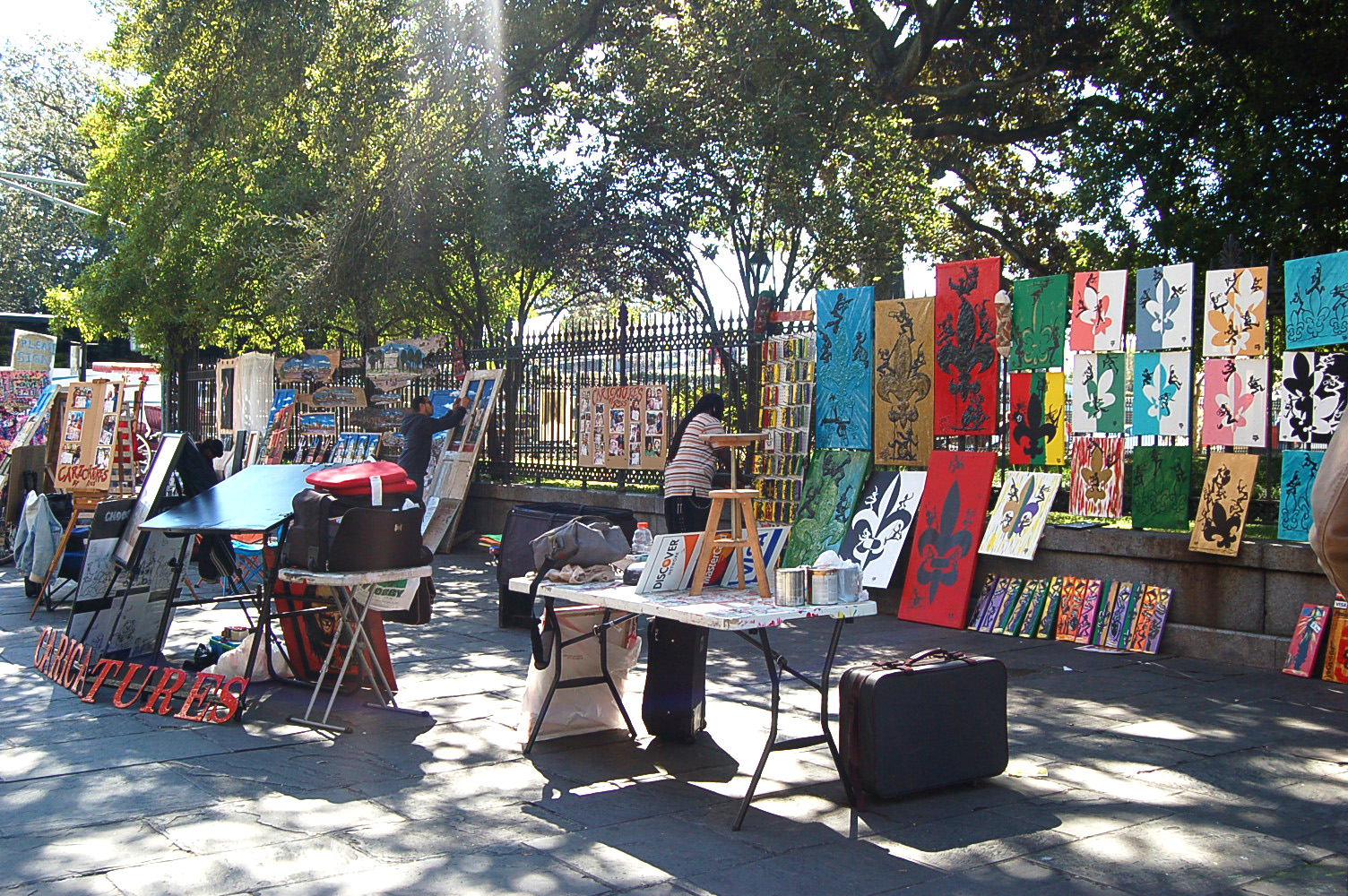 Art in Jackson Square, New Orleans