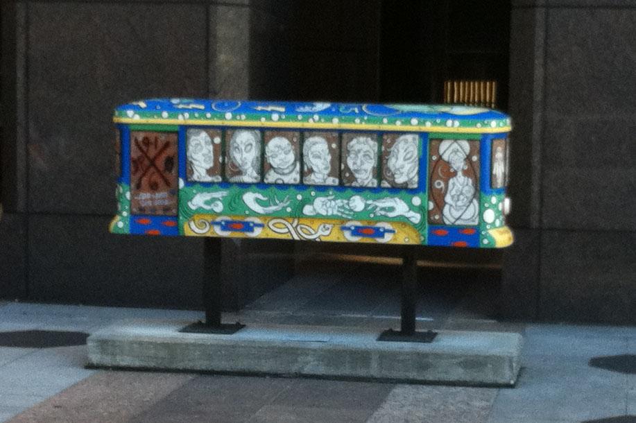 Coffin art in New Orleans