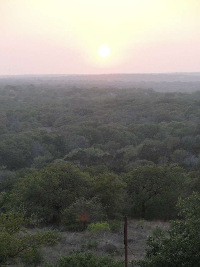 Sunset at Inn Above Onion Creek in Kyle, TX