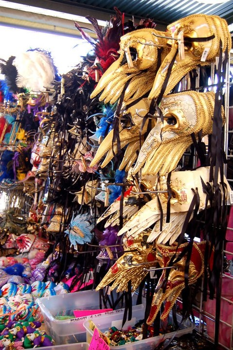 Mardi Gras masks in the French Market
