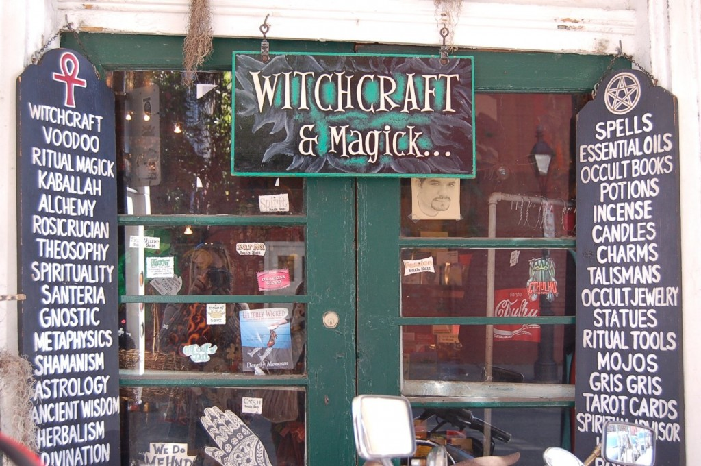 Witchcraft store in New Orleans