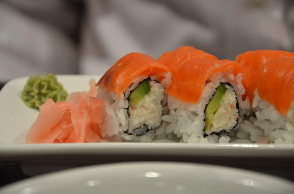 California rolls at Kamei Royale