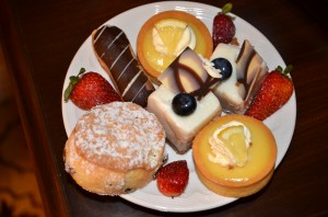 Treats from afternoon tea at Fairmont Hotel Vancouver