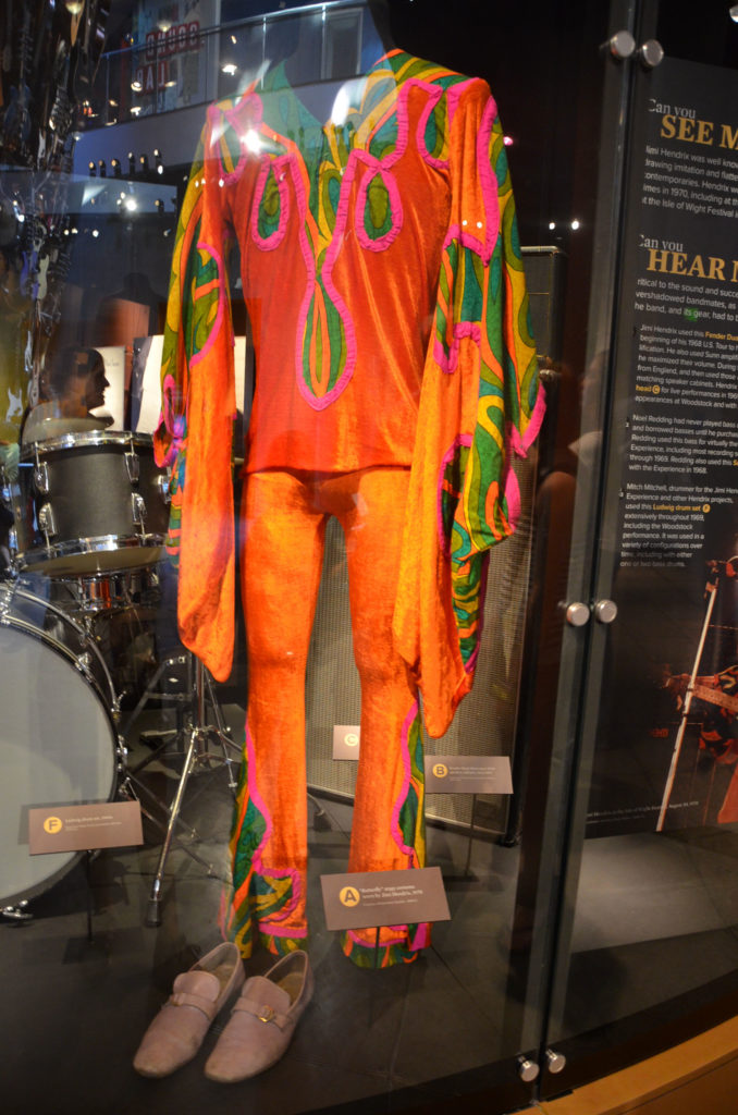 One of Jimi Hendrix's outfits at Experience Music Project