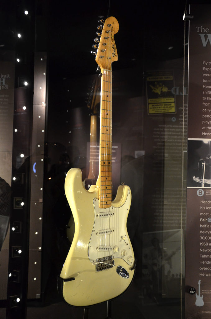 Experience Music Project in Seattle -- Jimi Hendrix Woodstock guitar