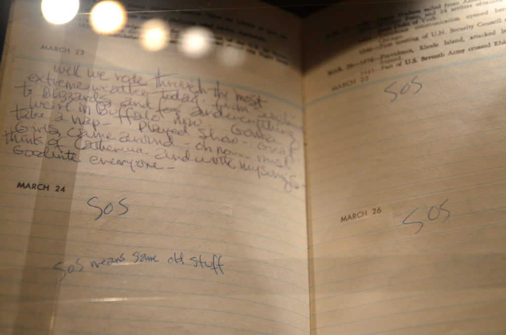 Jimi Hendrix's journal at Experience Music Project