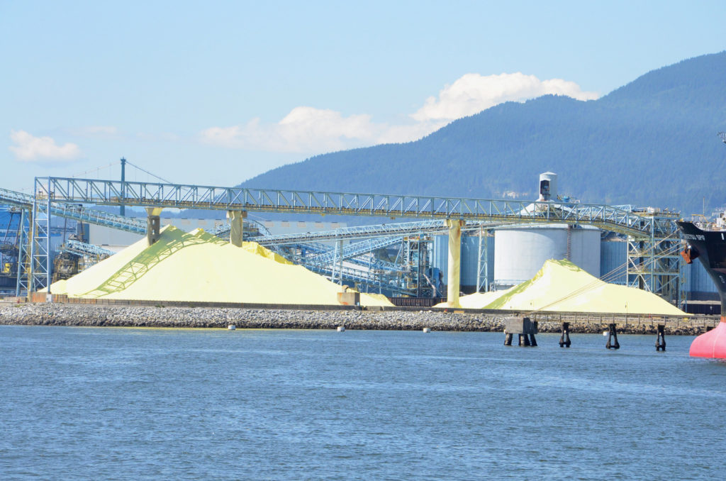 Sulfur plant on Vancouver harbor cruise