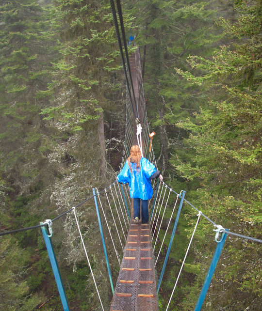 Canopy walk in Montana by CamelsandChocolate.com