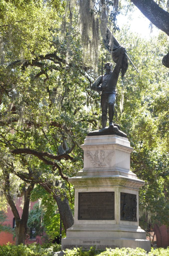 William Jasper Monument in Madison Square in Savannah, Georgia