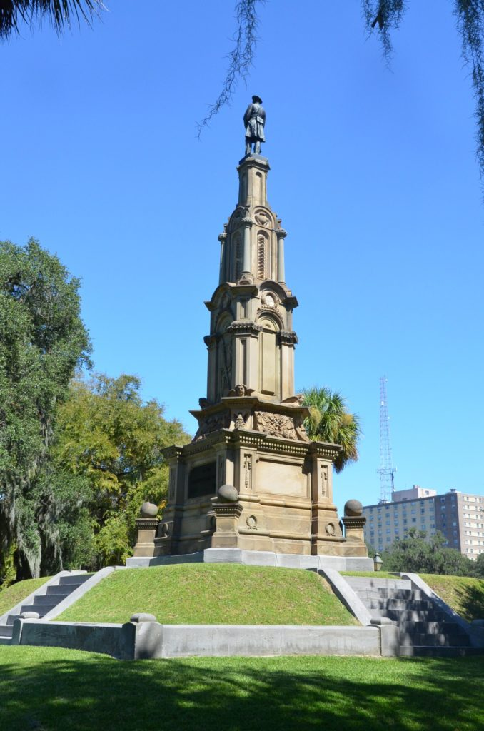 Monument in Forsyth Park in Savannah, Georgia