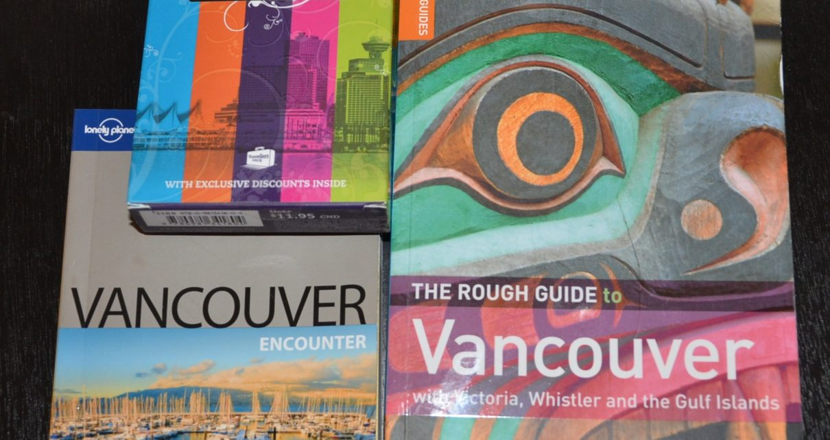 Vancouver guidebooks for giveaway