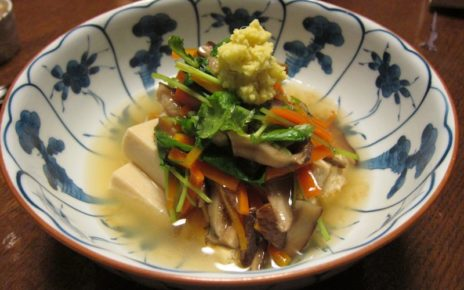 From Neverending Voyage's post: Simmered tofu with amber sauce