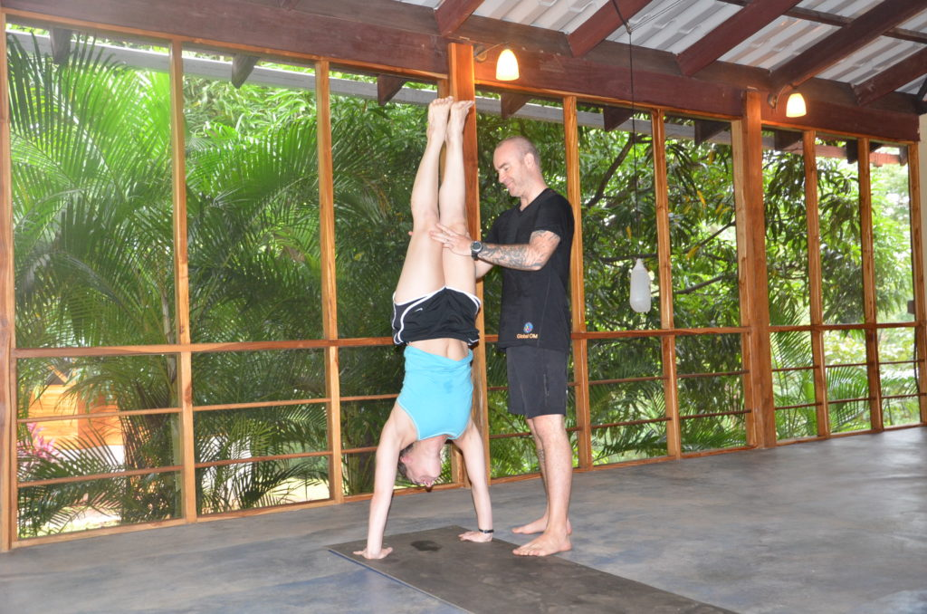 Me doing a handstand