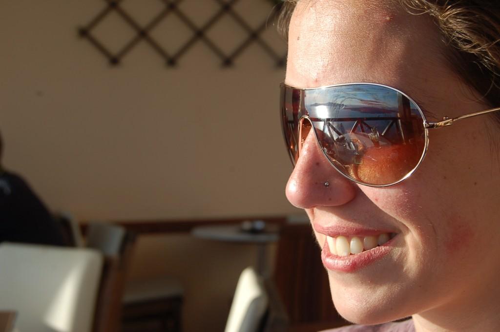 Emily in Santorini