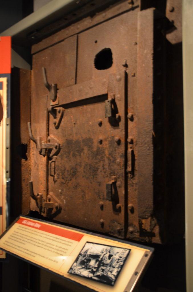 Pacific War Museum - USS Arizona door