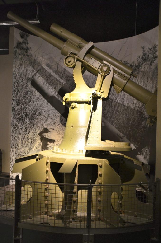 A Japanese gun at the Pacific War Museum