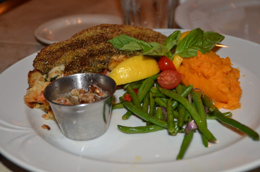 Stuffed trout at The Cabernet Grill