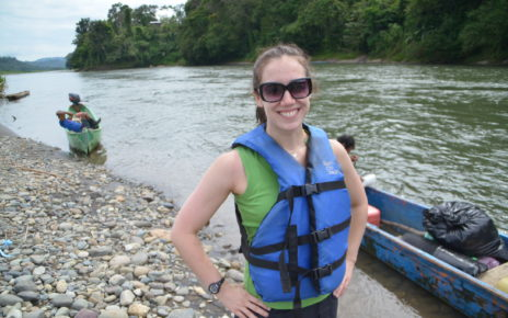 Emily at the Yorkin River