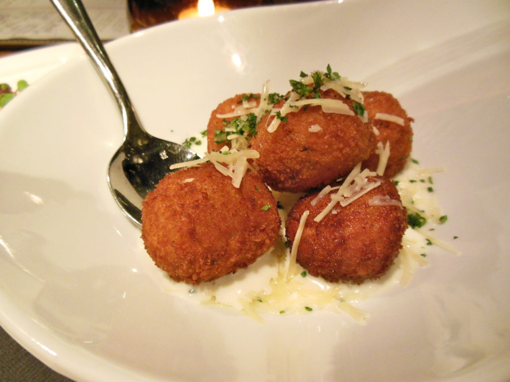 Risotto balls at Public House in Las Vegas