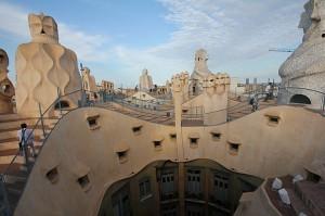 La Pedrera rooftop