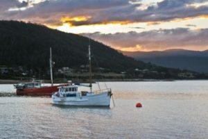 boats around the Freycinet Peninsula