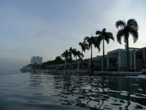 Shot from the far end of the Infinity pool