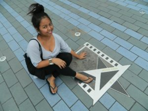 me in Avenue of the Stars