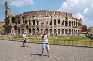 backpacking in rome